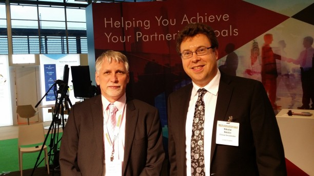 Nik Nikitin and Istvan Janosi at BioEurope Spring 2015